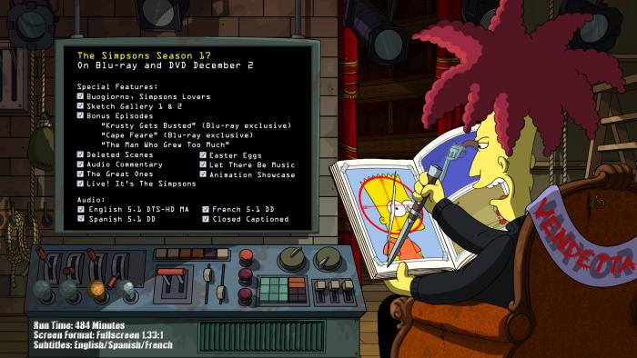The Simpsons Season 17 Arrives On Blu Ray And Dvd December 2 Noreruns Net