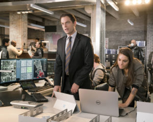 APB:L-R: Justin Kirk and Caitlin Stacey in APB coming soon to FOX.  ©2016 Fox Broadcasting Co. Cr:  Chuck Hodes / FOX
