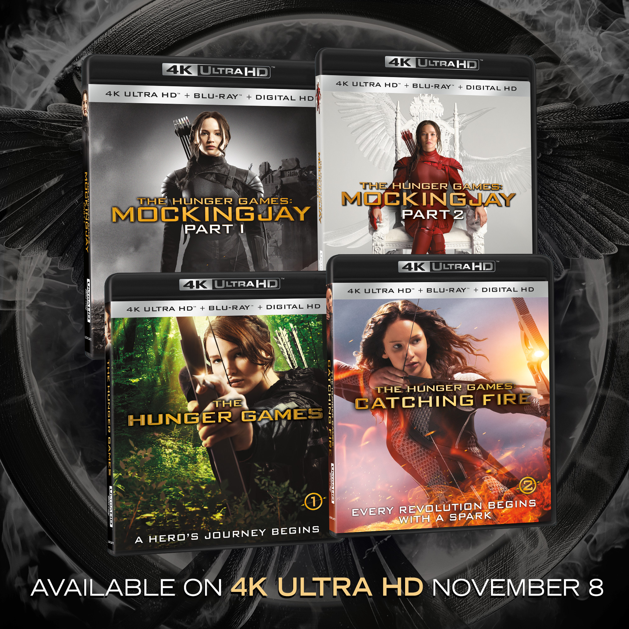 All Four The Hunger Games Films Available On 4k Ultra Hd Combo