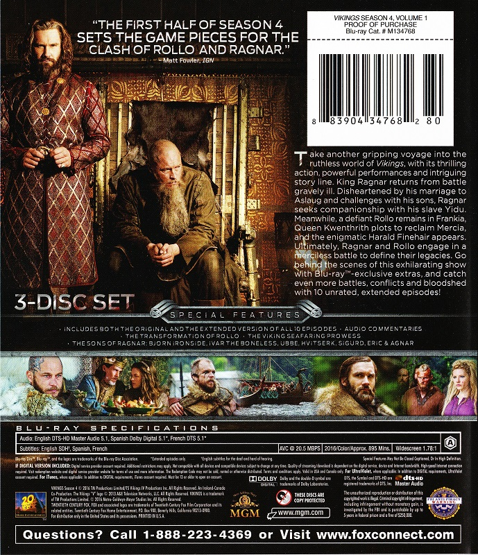 Blu-ray Review: VIKINGS Season 4, Volume 1 - NoReruns net