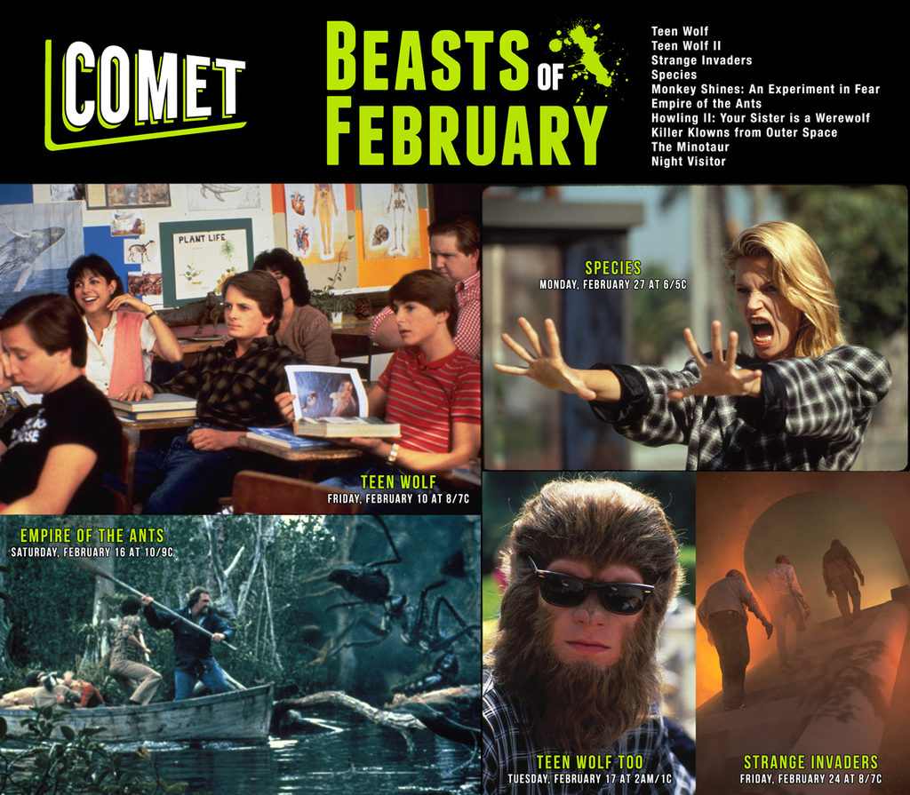 COMET TV Announces Beastly February TV & Movie Schedule