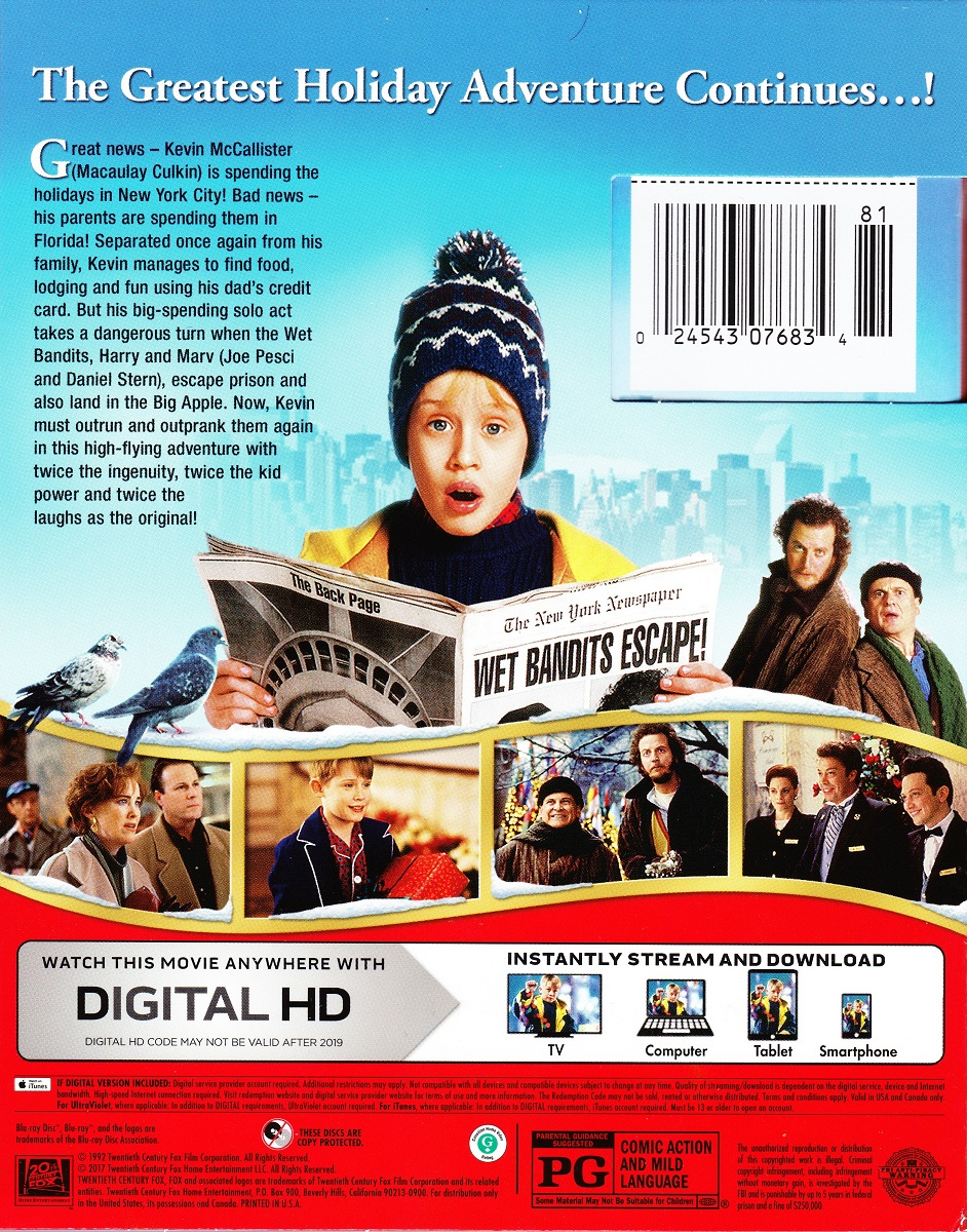 Blu Ray Review Home Alone 2 Lost In New York 25th Anniversary