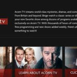 Acorn TV Launches on Xfinity TV