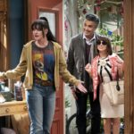 When an outrageously wealthy trust fund baby is cut off by his father, he and his wife move into her estranged sister's Reseda home, forcing the two siblings to reconnect, on BROKE, premiering later in the season on the CBS Television Network. Pictured: Pauley Perrette as Jackie, Jaime Camil as Javier, Natasha Leggero as Elizabeth. Photo: Sonja Flemming/CBS  ©2019 CBS Broadcasting, Inc. All Rights Reserved