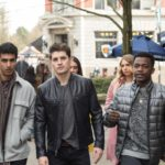 Dominic (played by Gregg Sulkin) hangs with his best friends Jackson (played by Dejan Loyola) and Noah (played by Trezzo Mahoro).