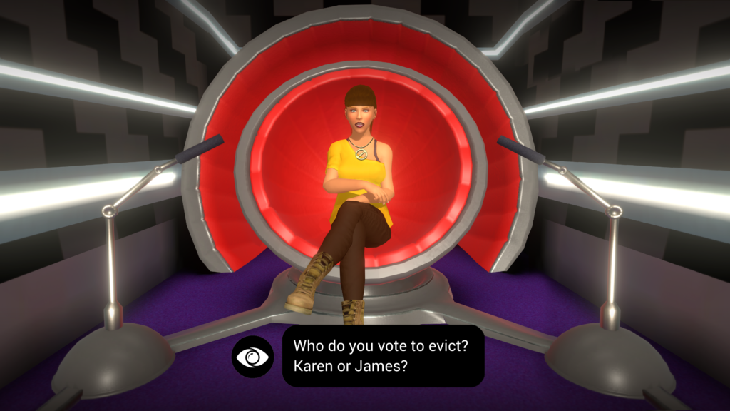 Big Brother The Game Screenshot_Diary Room Using the Veto ...